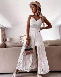 Фустан - код 2704 - бело