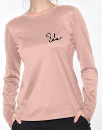 Блуза - код 6516 - 2 - розова