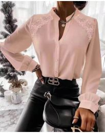 Кокетна дамска риза в розово - код 9902