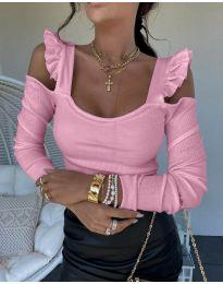 Блуза - код 2380 - црна