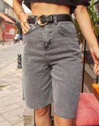 Дънкови панталонки в сиво - код 2448