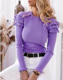 Блуза - код 1645 - 4 - виолетова