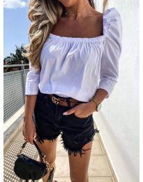 Блуза - код 9906 - бело