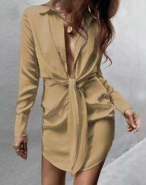 Фустан - код 5866 - кремова