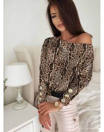 Блуза - код 5156 - 5 - шарена