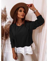 Блуза - код 3898 - црна