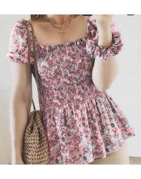 Блуза - код 3464 - розова