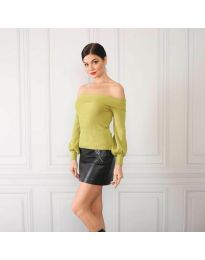 Блуза - код 0247 - зелена