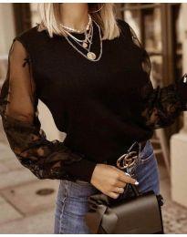 Блуза - код 4210 - црна