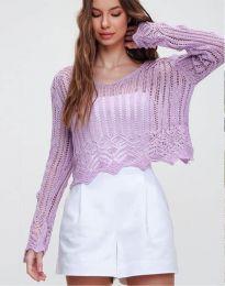 Блуза - код 2744 - виолетова