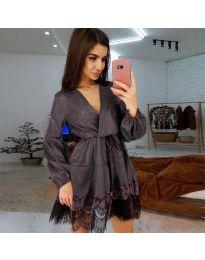 Фустан - код 3738 - темно сива