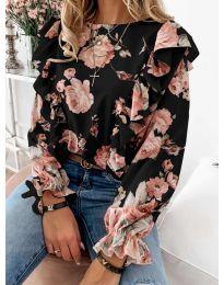 Блуза - код 4256 - црна