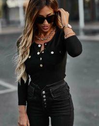 Блуза - код 11516 - 2 - црна