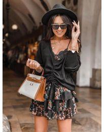 Блуза - код 6013 - црна