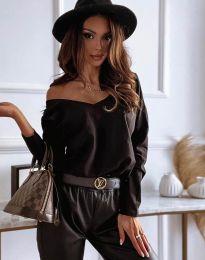 Блуза - код 12061 - црна
