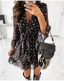 Фустан - код 5258 - црна