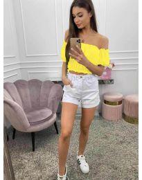 Блуза - код 1162 - жолта
