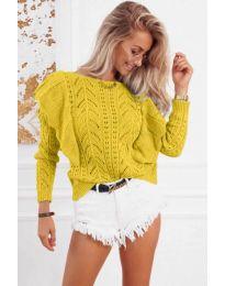 Блуза - код 5321 - жолта