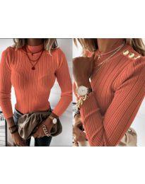 Блуза - код 9930 - портокалова