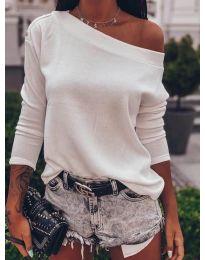 Блуза - код 4417 - бело