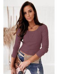 Блуза - код 8365 - виолетова