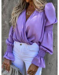 Блуза - код 5451 - виолетова