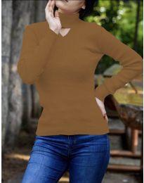 Блуза - код 5191 - кафеава