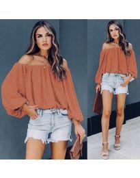 Блуза - код 6674 - портокалова
