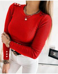 Блуза - код 1590 - 5 - црвена
