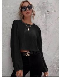 Блуза - код 5932 - црна
