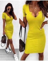 Фустан - код 8829 - жолта