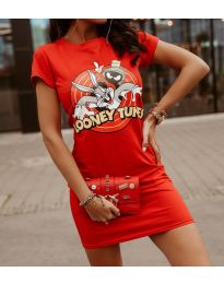 Фустан - код 0303 - 3 - црвена