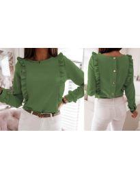 Блуза - код 4171 - зелена