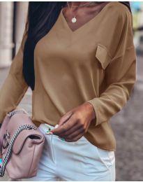 Блуза - код 0802 - кафеава