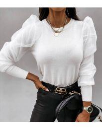 Блуза - код 4245 - бело