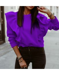 Блуза - код 3890 - виолетова