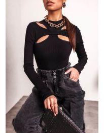 Блуза - код 1626 - 2 - црна