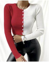Блуза - код 6366 - 4 - шарена