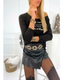 Блуза - код 4247 - црна