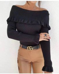 Блуза - код 7131 - црна