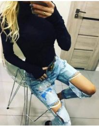 Блуза - код 5256 - црна