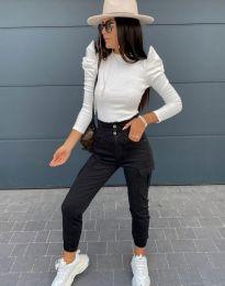 Блуза - код 2838 - 1 - бела