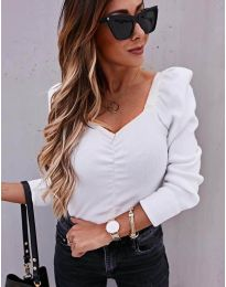 Блуза - код 394 - бело
