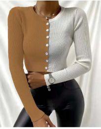 Блуза - код 6366 - 7 - шарена