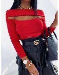 Блуза - код 1552 - 1 - црвена