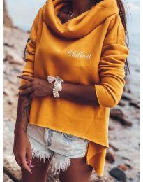 Блуза - код 7878 - портокалова