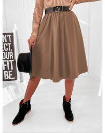 Сукња - код 6767 - кафеава