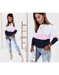 Блуза - код 9966 - 4 - шарена