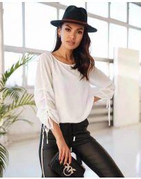 Блуза - код 5165 - бело