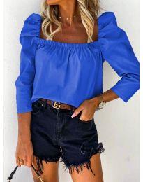 Блуза - код 9906 - темно сина